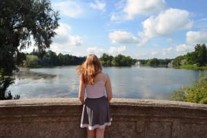 Lake in the grounds of Catherine Palace, Pushkin. Copyright Annabel Buxton