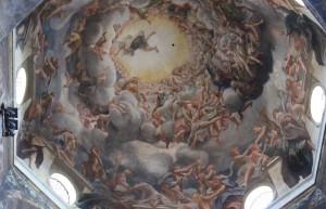 Naked angels in Parma Duomo by Correggio. Copyright Gretta Schifano