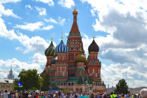 Saint Basil's Cathedral, Red Square, Moscow. Copyright Annabel Buxton