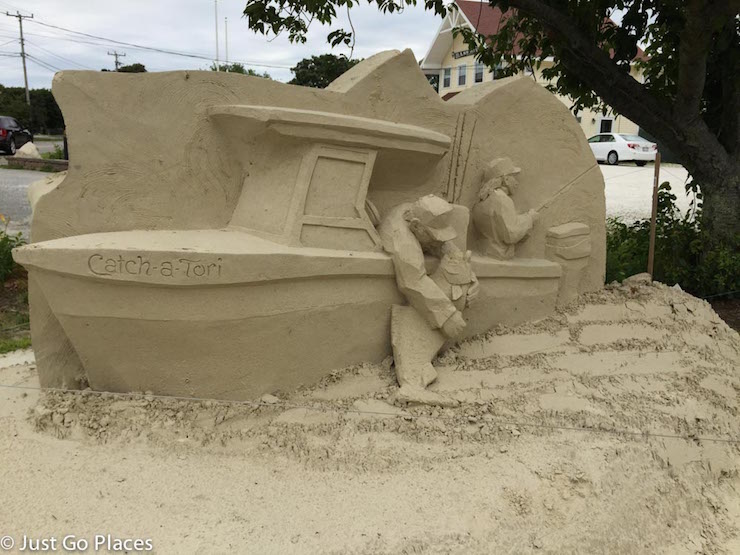 Sand sculpture in Cape Cod. Copyright Just Go Places