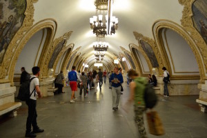 The Moscow Underground. Copyright Annabel Buxton