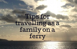 Tips for traveling as a family on a ferry. English Channel seen from a ferry. Copyright Gretta Schifano