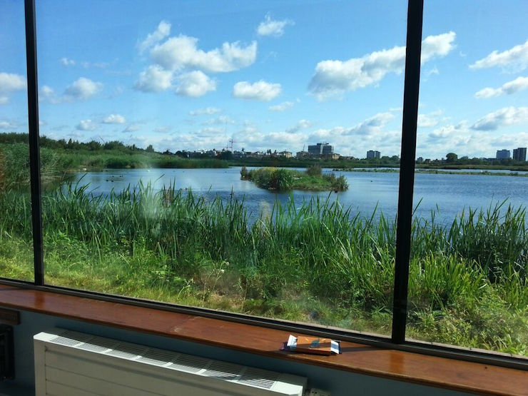 View from London Wetland Centre. Copyright Lorenza Bacino