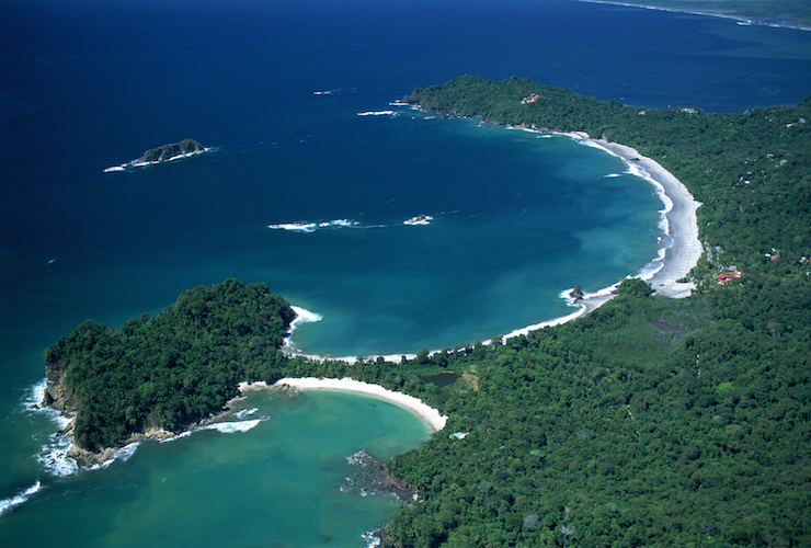 Aerial view of Manuel Antonio National Park. Image courtesy of Parador Resort & Spa