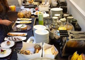 Breakfast at Hotel Metropole, Bologna. Copyright Gretta Schifano