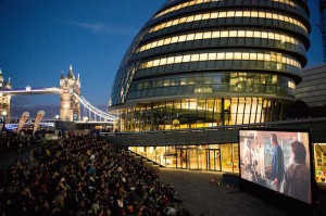 London Riviera outdoor cinema. Image courtesy of London Riviera