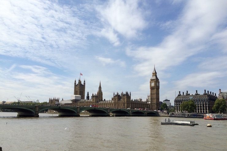 River Thames and Houses of Parliament, London. Copyright Gretta Schifano