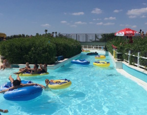 Lazy river at Mirabilandia Beach. Copyright Gretta Schifano