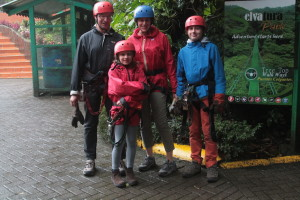 Lorenza and family preparing for the zip wire. Copyright Lorenza Bacino.JPG