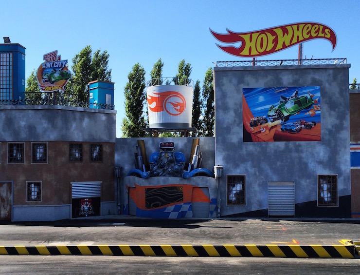 Set for Hot Wheels stunt show, Mirabilandia. Copyright Gretta Schifano
