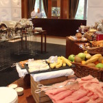 Breakfast buffet, Four Seasons Canary Wharf. Copyright Gretta Schifano