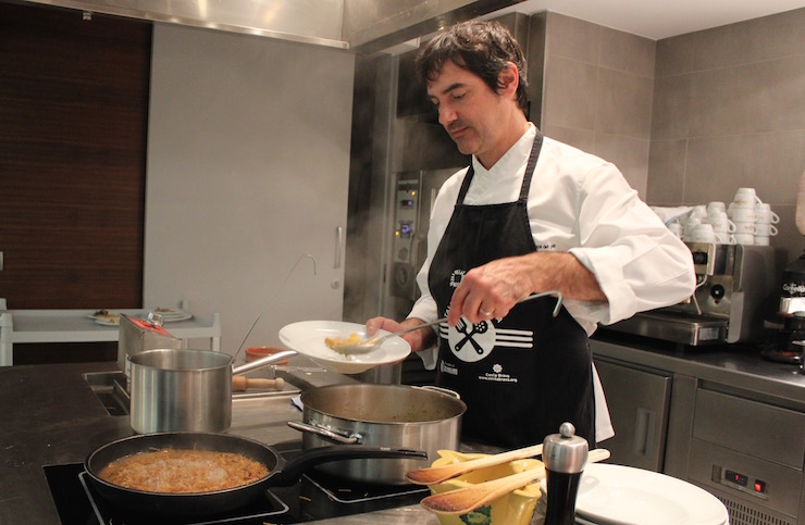 Chef Joan Cuadrat, Espai de Peix. Copyright Gretta Schifano