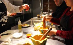 Cooking with Joan Cuadrat, Espai de Peix, Palamós. Copyright Gretta Schifano
