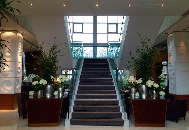 Lobby, Four Seasons Canary Wharf. Copyright Gretta Schifano