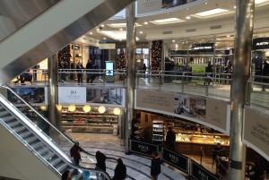 Shopping at Canary Wharf. Copyright Gretta Schifano
