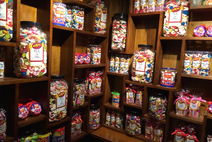 Sweet shop at Four Seasons Canary Wharf. Copyright Gretta Schifano