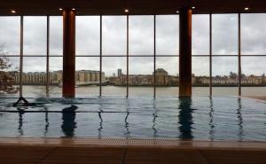 Swimming pool at Virgin Active, Canary Wharf. Copyright Gretta Schifano
