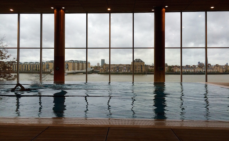 Swimming pool at Virgin Active, Canary Wharf. Copyright Gretta Schifano