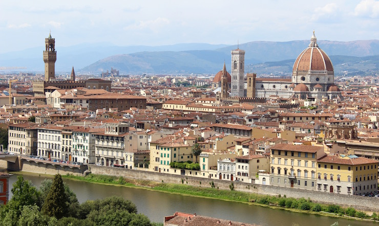 View of Florence from Piazzale Michelangelo. Copyright Sal Schifano
