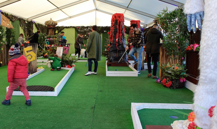 Festive crazy golf at Winterville. Copyright Gretta Schifano