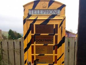 Decibel phone box, Drusillas Park. Copyright Sharmeen Ziauddin