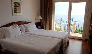 Double room at Hotel Silken Park San Jorge. Copyright Gretta Schifano