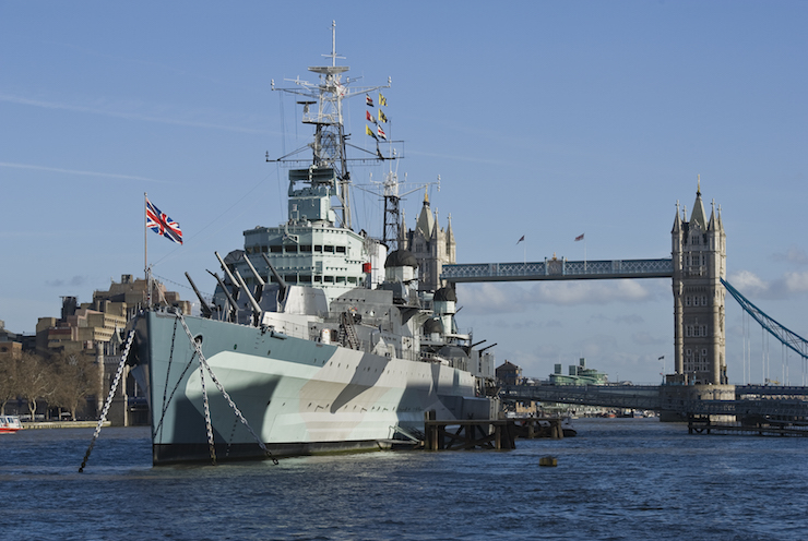 HMS Belfast. Image courtesy of IWM.