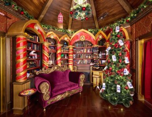 Santa's Study, Wesfield Christmas Grotto. Image courtesy of Westfield.