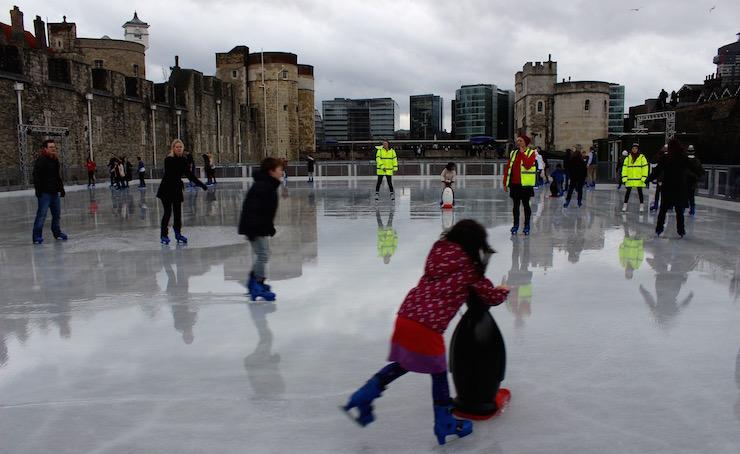 Tower of London ice rink. Copyright Gretta Schifano