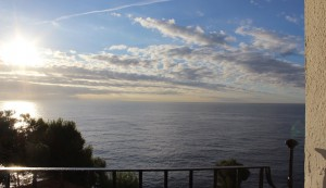 View from our balcony at Hotel Silken Park San Jorge. Copyright Gretta Schifano