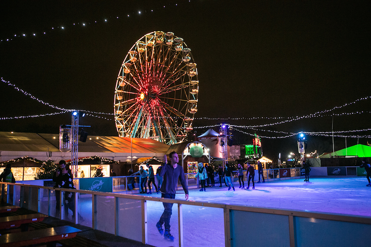 Winterville ice rink. Copyright Winterville