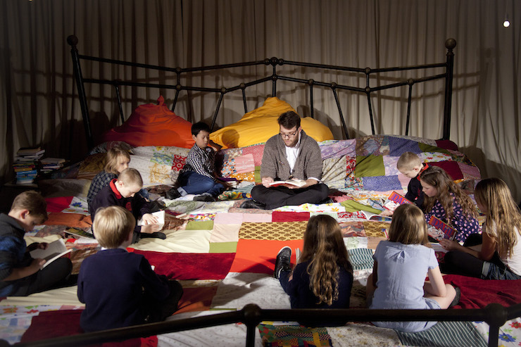 Imagine Children's Festival, Giant Storytelling Bed. Copyright Filipa Esteves