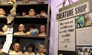 Creature effects, Warner Bros Studio Tour. Copyright Gretta Schifano