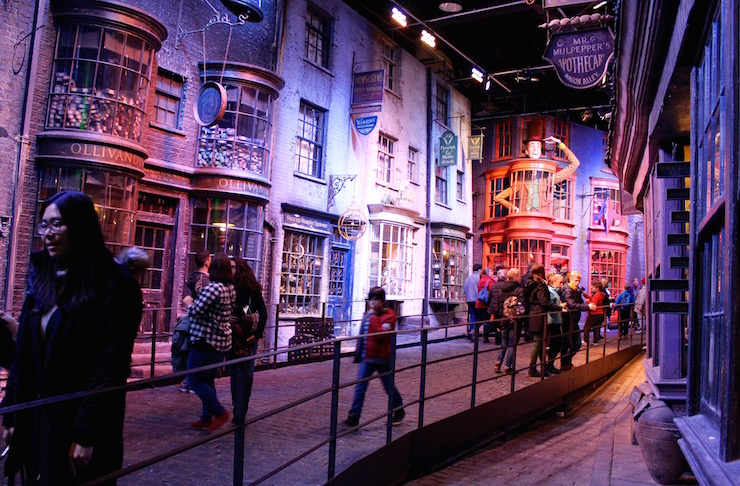 Diagon Alley, Warner Bros Studio Tour. Copyright Gretta Schifano