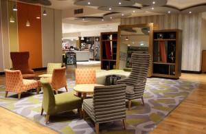 Holiday Inn Brighton Seafront lobby. Copyright Gretta Schifano