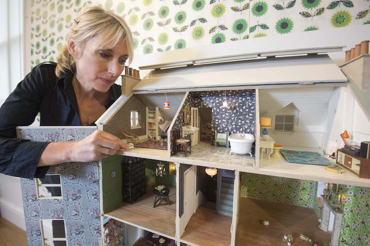 Lauren Child with her Doll's House. Image copyright Paul Grover