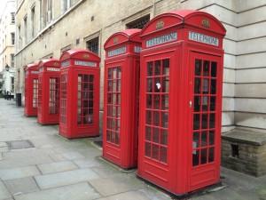 London phone boxes. Copyright Gretta Schifano