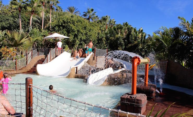 Toddlers' water slide, Siam Park, Tenerife. Copyright Gretta Schifano