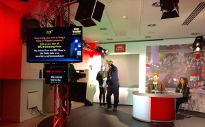 Volunteer newsreaders on a tour of Broadcasting House. Copyright Gretta Schifano