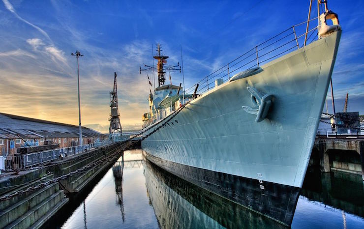 HMS-Cavalier, Chatham Historic Dockyard, Kent. Image courtesy of Chatham Historic Dockyard