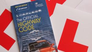 L-plates and Highway Code. Copyright Gretta Schifano