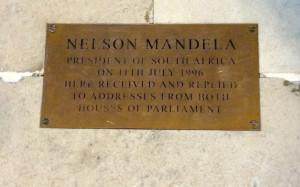 Nelson Mandela plaque, Westminster Hall. Copyright Gretta Schifano