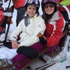 Sitting on a dog-sled, Alpe d'Huez. Copyright Gretta Schifano