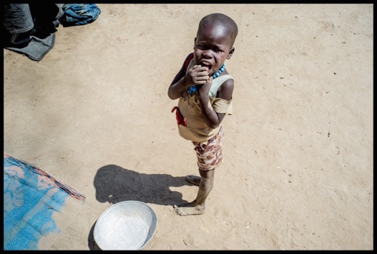 Action Against Hunger, Man Awan displacement camp, South Sudan. Copyright Andrew Parsons