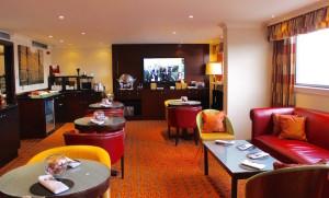 Cardiff Marriott Executive Lounge. Copyright Gretta Schifano