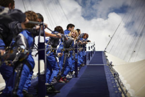 Climbing the O2. Image courtesy of Up at O2