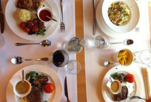 Lunch on board Stena Brittanica. Copyright Gretta Schifano