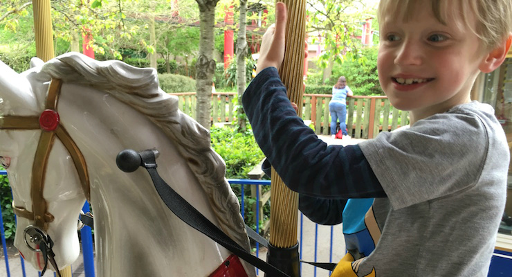 Afra's son at Chessington World of Adventures. Copyright Afra Willmore