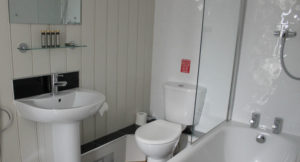 Bathroom, Fisherman's Hut, Whitstable. Copyright Gretta Schifano