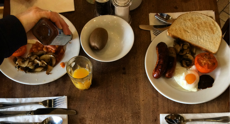 Breakfast, Hotel Continental, Whitstable. Copyright Gretta Schifano